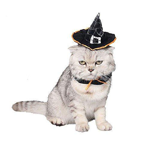 Mummumi Small Pet Weihnachten Halloween Urlaub Zubehör Kostüme Hat für Kätzchen Katzen Kleine Hunde, S, D