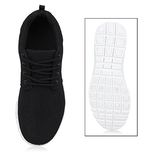 Damen Sportschuhe | Neon Laufschuhe | Runners Sneakers | Fitness Schnürer | Prints Blumen | Übergrößen Schwarz Weiss Black