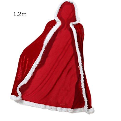 hifuture Umhang Flanell Cape Halloween Erwachsener Unisex Rot lange Umhang Mantel RobeCosplay Kostüm