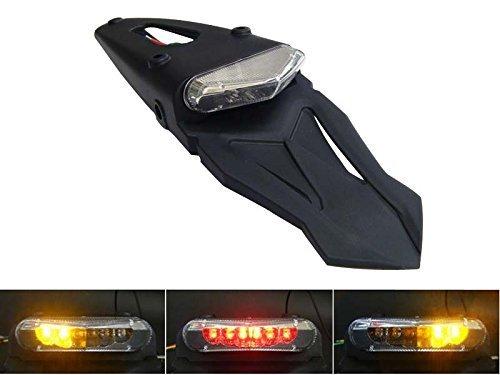 Universal Motorrad Led Stop/Heckleuchte mit Eingebautem Blinker - Homologated - für Schutzblech Hinten/Kotflügel (Harley Led-blinker-einsätze)