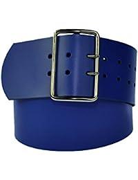 7cm Breit Echt Leder Guertel mit 4 Eckiger Roll Schnalle Wählbar aus 29 Farben und 12 Längen