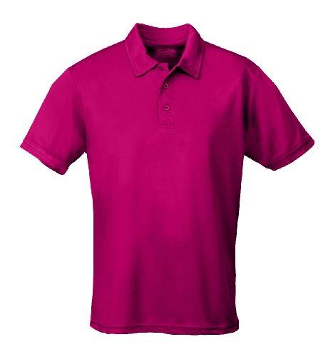 Just Cool - Performance - Performance Polo Shirt, atmungsaktiv, Shirt, atmungsaktiv, M,Hot Pink - Hot Pink T-shirt