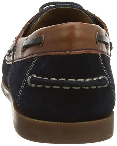 Geox U Juarez A, Chaussures bateau homme Bleu (Navy/Caramel)