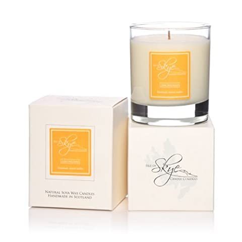 Isle of Skye Large Candle In Glass. LEMONGRASS . 45hr . Natural Soy Wax. Hand Made. Gift Boxed
