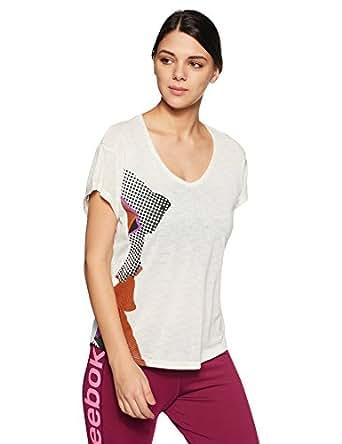 Reebok Women's Sports T-Shirt (CD5589_Chalk-_S)