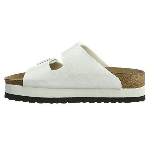 Papillio Womens by Birkenstock Arizona Synthetic Sandals White