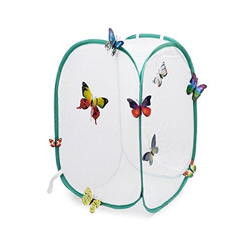 Hyindoor Gabbia per insetti Gabbia per farfalle Habitat Gabbia di protezione anti pop up pieghevole per terrari 40 x 40 x 60
