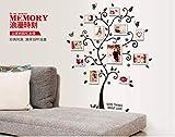 ZBYLL Wall Sticker Glück Bilderrahmen Baum Foto Rahmen mit Schlafzimmer Wohnzimmer Romantik
