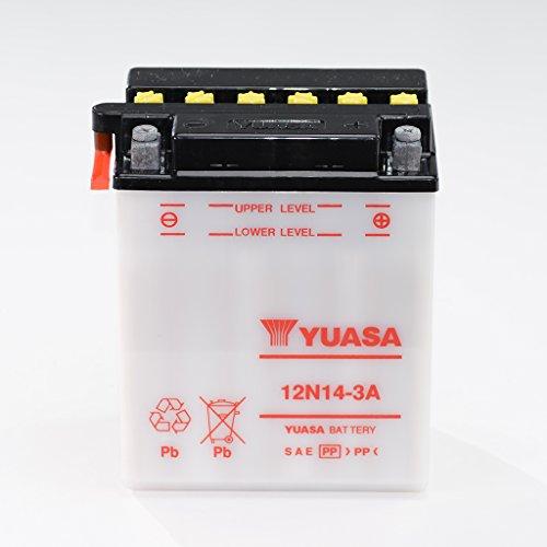 Batteria 12V 14Ah 12N14-3A, umido Yuasa DIN 51411per Pegaso 600FP   Pegaso 650GA   Tuareg 600Wind EP   2x 4  4x 4  R 1100S Replica 259S   Canyon 6005G   Elefant 350 