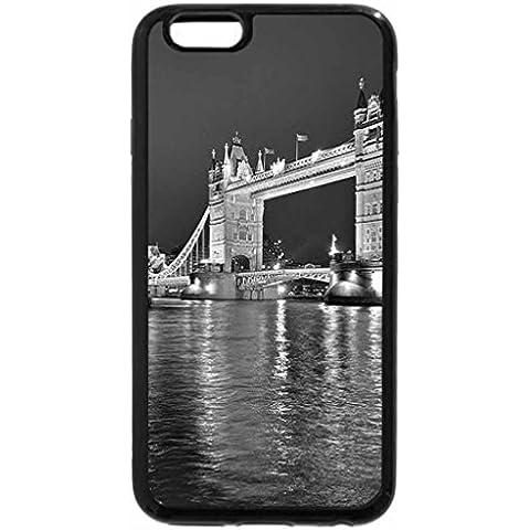 iPhone 6S Plus funda, iPhone 6Plus Case (blanco y negro)–noche en Londres