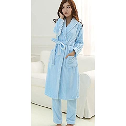 DMMSS femminile dolce pigiama Set due pezzi Sleepwear Set accappatoio , 8 , l - Terry Bambino Bambola