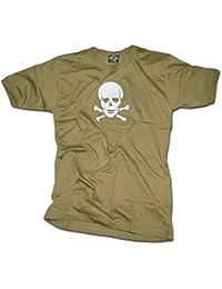 """T-Shirt bedruckt """"Totenkopf"""" oliv"""