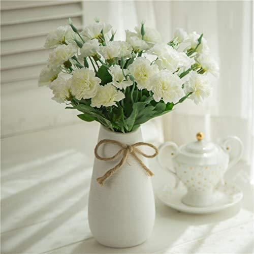 XIYAO Frische Künstliche Blume Nelke Seidenblume Gefälschte Pflanzen Für Muttertag Home Party...