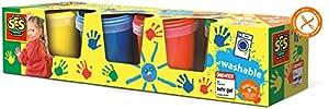 Ses SES-305 Creative Washable Finger Paints (Pack of 4), (00305)