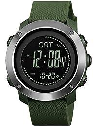 Reloj Electronico YZD@ Deportes Digitales Al Aire Libre, Impermeables, Luminosos con CompáS, TermóMetro, AltíMetro, BaróMetro,…