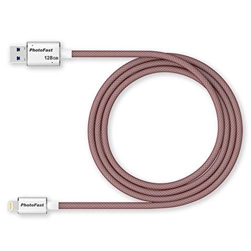 Preisvergleich Produktbild PhotoFast MemoriesCable Gen3,  Ultimatives Lightning zu USB 3.1 Ladekabel,  Das Ihre Daten auf Innovative Weise verwaltet,  sichert und lädt,  128GB,  1m