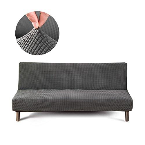 Cornasee copridivano senza braccioli 3 posti in maglia,clic clac fodera copridivano elastico per divano letto,grigio