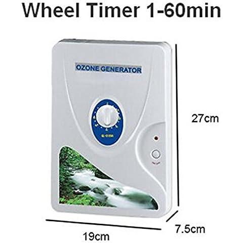 Yosoo 600 mg / h de agua dulce hidroponía carne verduras máquinas de desintoxicación generador de ozono digital de ozono de la fruta (rueda-Timer - 1-60 min)(3189A)