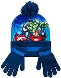 Paw Patrol. Mütze Schal und Handschuh Set Kinder Wintermützen für Mädchen und Jungen Mütze Marvel Avengers Spiderman Frozen Anna Elsa (Avengers)