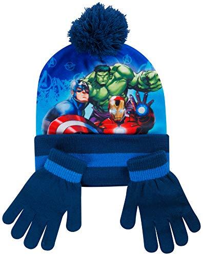 416Ut30VpBL - Bufanda Gorro Guantes para NIños Spiderman Marvel Avengers Accesorios Invierno Gorros Niña Paw Patrol La Patrulla Canina Frozen (Avengers)