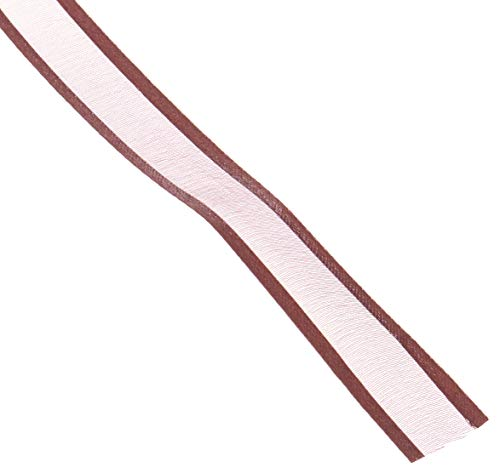 Homeford FCR000SES0508850 Satin-Edge Sheer Organza Ribbon, 5/8-Inch, Brown -