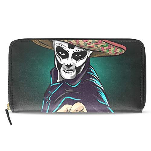 Emoya Damen Clutch Day of The Dead Sugar Skull Man Lady Geldbörse Kreditkarten-Halter Handtasche (Geschenk-karte Womens Day)