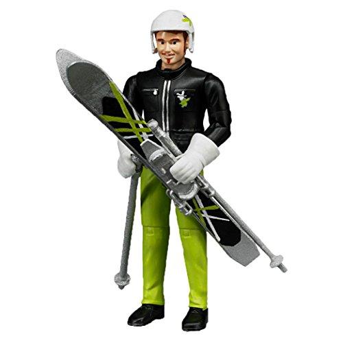 Bruder 60040 Minifigur-bworld Skifahrer mit Zubehör
