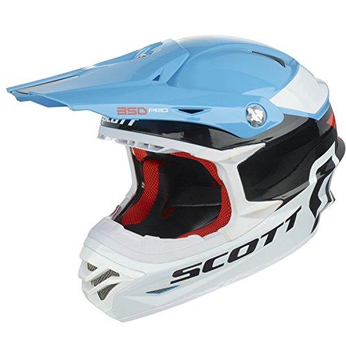 SCOTT 350 PRO RACE MX ENDURO DE MOTO/BICI CASCO BLANCO/NARANJA/AZUL 2016  COLOR   TAMAÑO S (55 56CM)