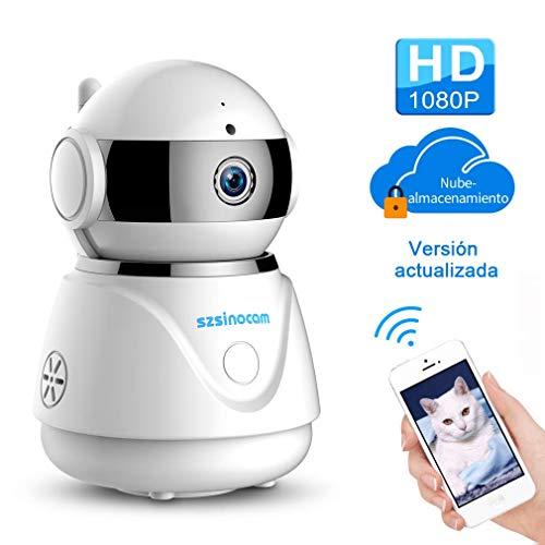 IP cámara WiFi,cámara IP Szsinocam cámaras de vigilancia wifi interior 1080P Servicio nube P2P IR Visión Nocturna Detección de Movimiento,Seguridad para casa,CCTV Sistema Seguridad para el hogar/bebé