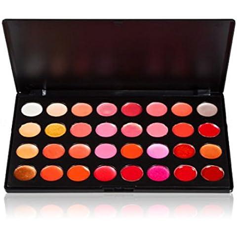 Ungfu Mall 32colori trucco rossetto Lip Gloss Palette