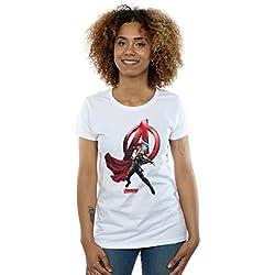Marvel Mujer Thor Pose Camiseta Medium Blanco