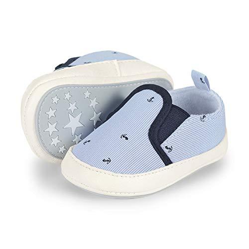 Sterntaler Jungen Baby-Schuh Slipper, Blau (Himmel 2301926), 22 EU (Schuhe Jungen Slipper)