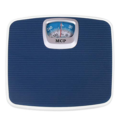 MCP Deluxe Personal Manual Analog Weighing Scale upto 130 kgs capacity for human body weight machine (Mechanical Weighing Machine)- Blue