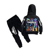 Fortnite Hoodie Sweater Kids Boys Girls Hooded Sweatshirt Pants Set