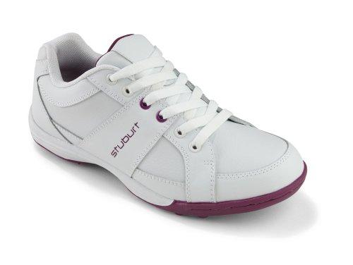 Stuburt Urban - Scarpe da Golf Senza Tacchetti, Donna, Bianco (White/Mulberry), Taglia 5