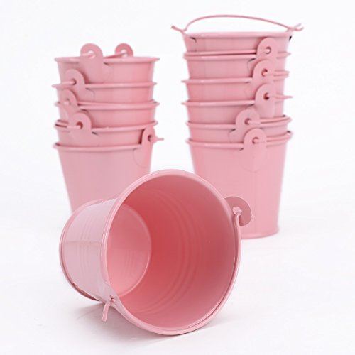 12x Mini Cute Metal Bucket Colored Xmas Wedding Party Favors Gift Candy...