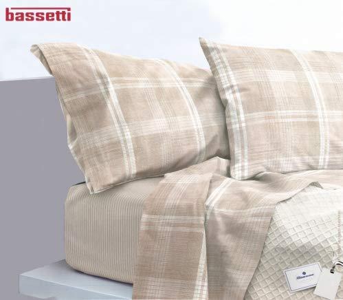 Bassetti Parure de lit complète de Trendy Art. Thann + abattant Parfum Linge pour armoires Seulement by biancocasa Beige