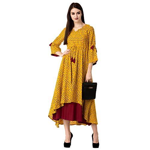 Khushal K Womens Rayon Printed Gown Kurta