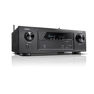 Denon AVRX1400H 7.2-Kanal AV-Receiver und HEOS Integration (Dolby Vision Kompatibilität, Dolby Atmos, dtsX, WLAN, Bluetooth, Spotify Connect, 4K/60Hz 6 HDMI-Eingänge, 7x 145 W) schwarz