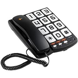 Topcom TS-6650 Téléphone à Touches géantes Noir