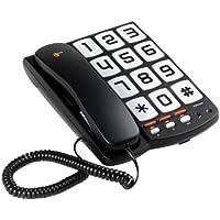 Topcom Sologic T101 Telefono con Grandi Tasti, Nero