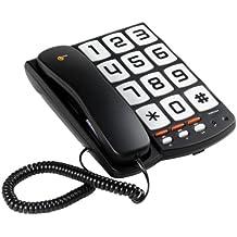 Topcom Sologic T101 - Teléfono de teclas grandes (3 Números de memoria directa - Montaje en pared)
