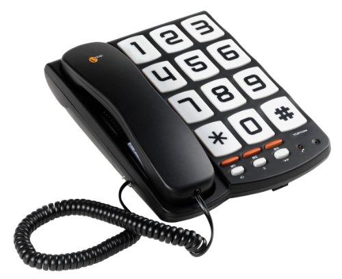 Topcom TS-6650 Teléfono, con Botones Grandes, Compatible con Audífonos