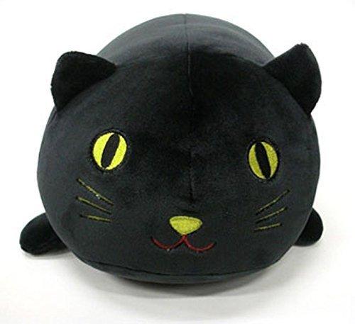 LivHeart Marshmallow Plüsch Tier Cocon Nackenrolle Kissen schwarze Katze klein 29000-73