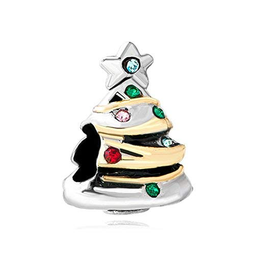 Ciondolo per bracciale Pandora forma di albero di Natale