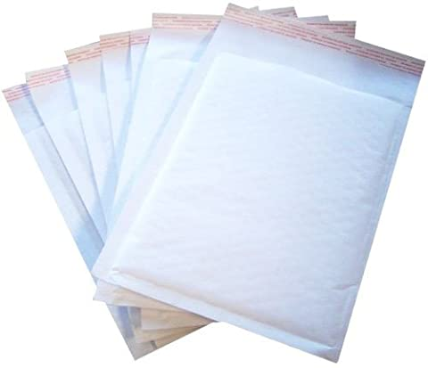 Padded Envelopes 200 Bubble Lined WHITE A6 Floppy Disks 115X195mm