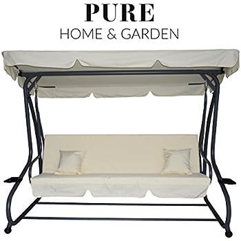 Hervorragend Amazon.de: Pure Home & Garden 4-Sitzer XXL Hollywoodschaukel mit OG95