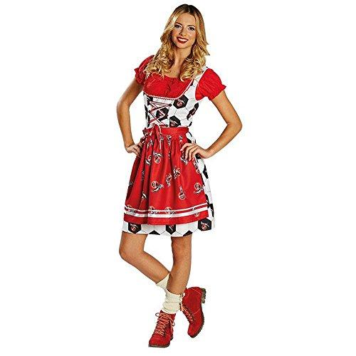 Unbekannt Damen Kostüm Dirndl 1. FC Köln Karneval Fasching Oktoberfest Gr.46 (Köln Karneval Kostüme)