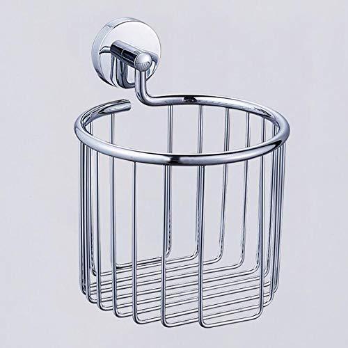 UHK Lysqva Badezimmer Supplies WC-Badezimmer 304 Edelstahl Papierhalter Gebürstetem Nickel Fertig Toilettenpapierhalter Wandkorb Korb Badezimmerzubehör -
