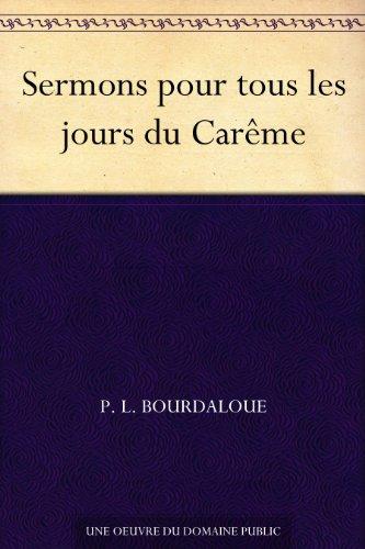 Couverture du livre Sermons pour tous les jours du Carême